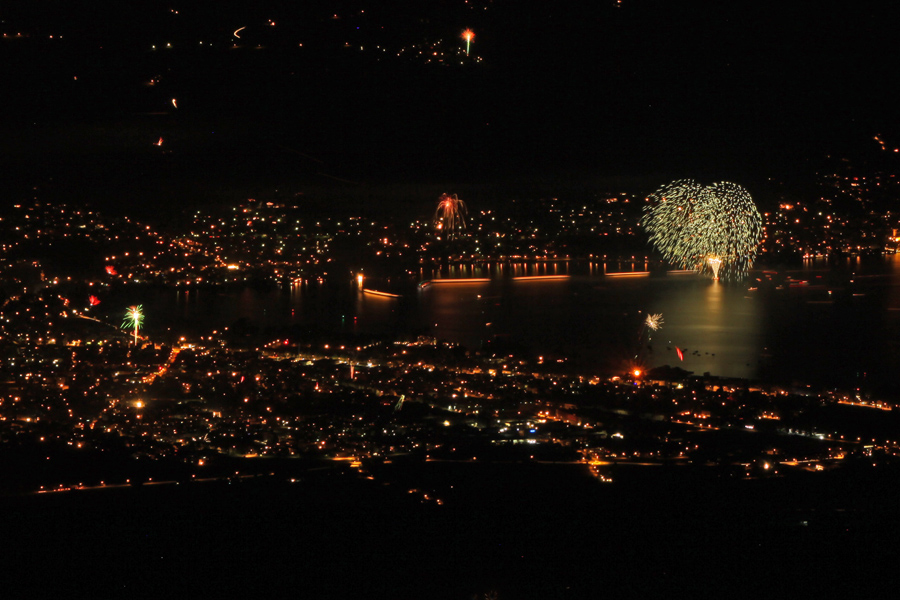Feuerwerk am Thunersee