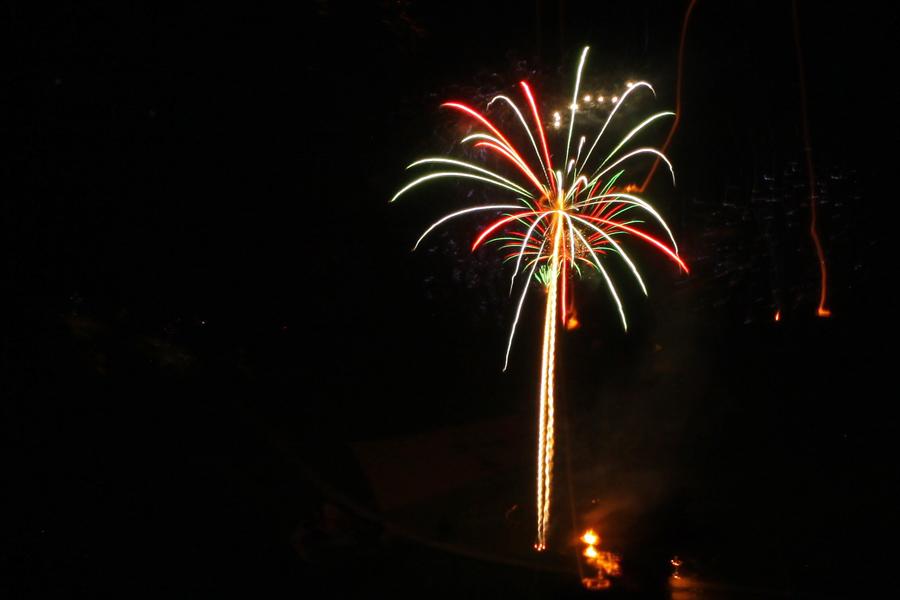 Feuerwerk im Gürbetal