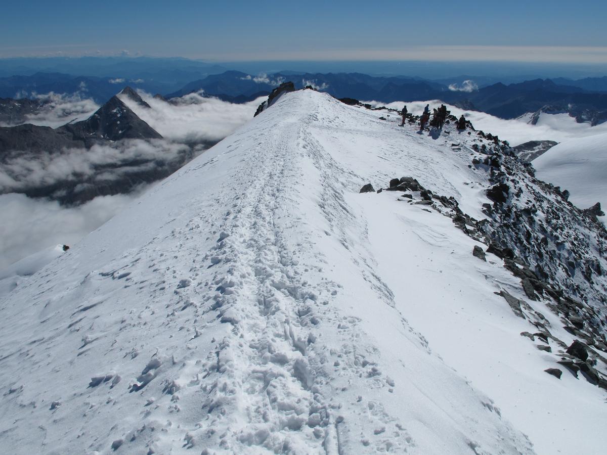 "Das ""Gipfelgrätchen"" zum Allalinhorn"