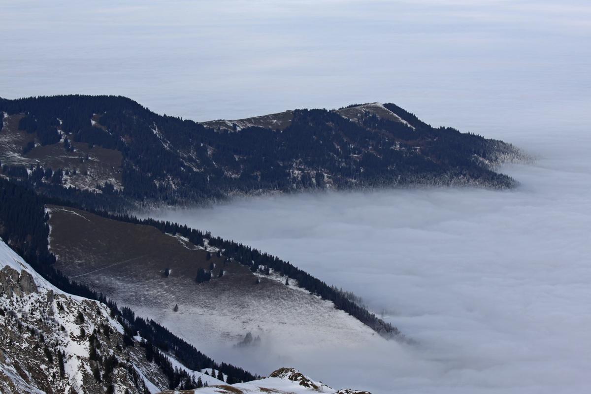 Nebelmeer über dem Gürbetal
