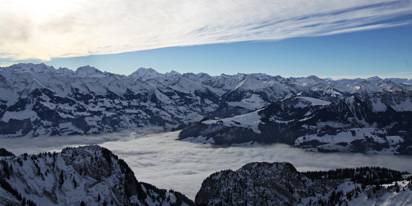 Panorama Nebelmeer Vorderes Simmental