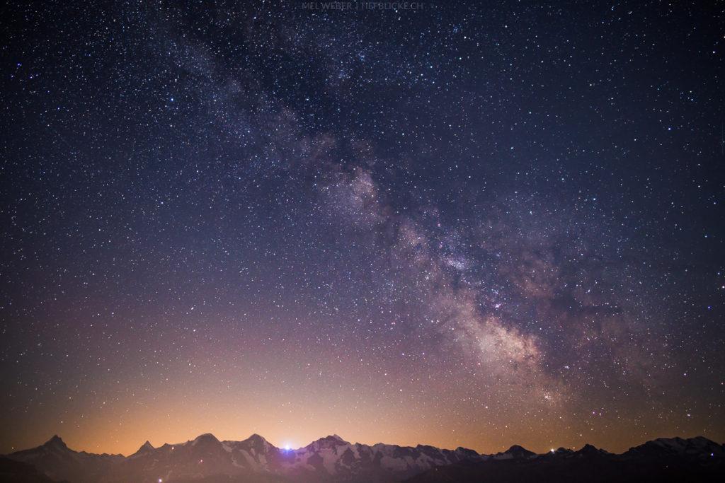 Milchstrasse in den Berner Alpen